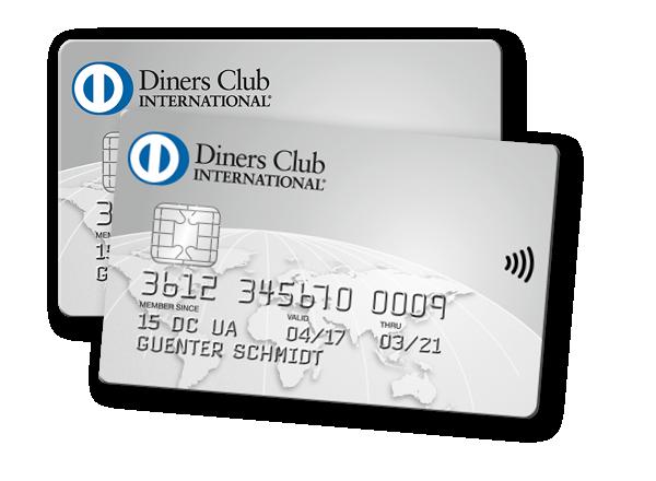 Zwei Diners Club Karten als Bild